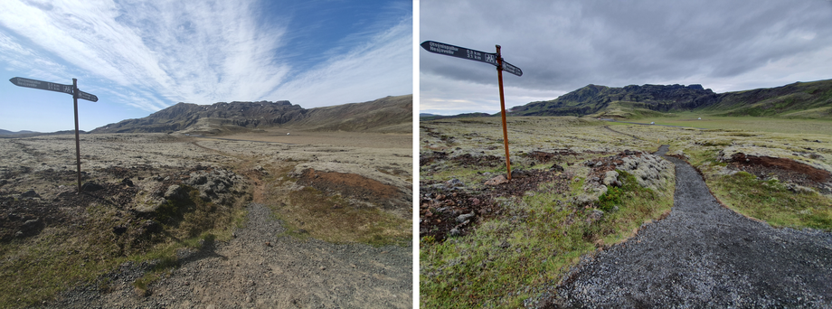 Hiking trails in the vicinity of the Hellisheidi Geothermal Power Plant
